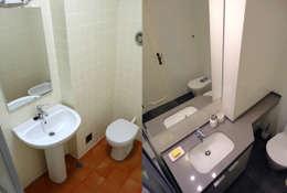 Ванные комнаты в . Автор – Happy Ideas At Home - Arquitetura e Remodelação de Interiores