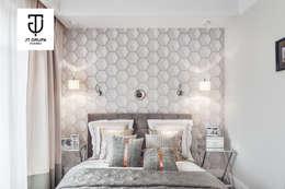 Gdańsk - Apartament nad zatoką: styl , w kategorii Sypialnia zaprojektowany przez JT GRUPA