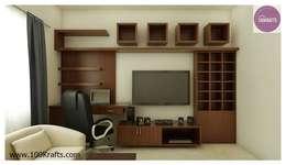 flat Interior Designs: modern Living room by 100Krafts