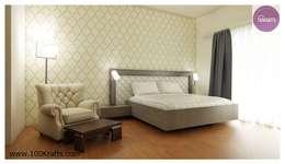 flat Interior Designs: modern Bedroom by 100Krafts
