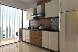 Interior designs: modern Kitchen by Spacious Designs Architects  Pvt. Ltd.