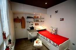 STUDIO 9M²: Chambre de style de style Minimaliste par BODDAERT INTERIEUR
