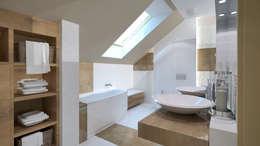 łazienka poddasze: styl , w kategorii Łazienka zaprojektowany przez INTUS DeSiGn