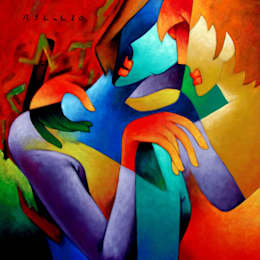 Lover - Made for each each other:  Artwork by Indian Art Ideas