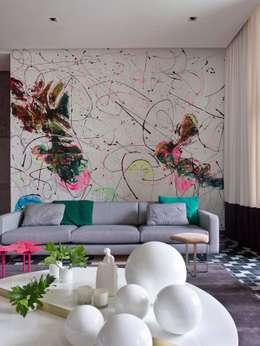 Salon de style de style Moderne par SA&V - SAARANHA&VASCONCELOS