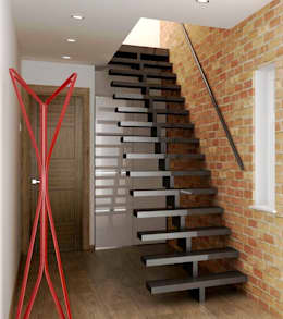pasillos vestbulos y escaleras de estilo por lena lobiv interior design