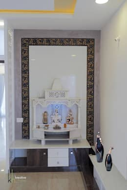 POOJA ROOM /PRAYER AREA:  Artwork by KREATIVE HOUSE