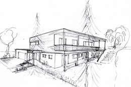 Projekty, nowoczesne Domy zaprojektowane przez Architekt Stefan Toifl