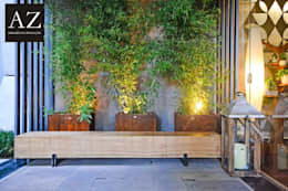 Jardines de estilo rústico por TOLENTINO ARQUITETURA E INTERIORES