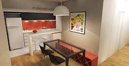 APARTAMENTO URBANO: Salas de jantar modernas por Maxma Studio