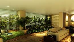 Jardines de invierno de estilo ecléctico por Eduardo Novaes Arquitetura e Urbanismo Ltda.