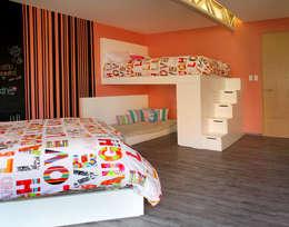 Casa Begalg : Recámaras infantiles de estilo moderno por DIN Interiorismo