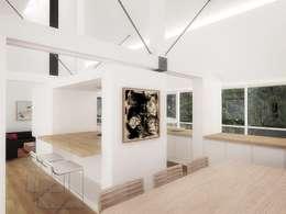 Casa - Taller : Comedores de estilo minimalista por RRA Arquitectura