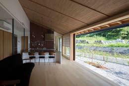 平屋に住まう: TRANSTYLE architectsが手掛けたリビングです。
