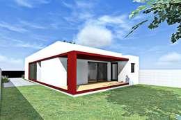 CASA A PATIO : Casas de estilo moderno por epb arquitectura