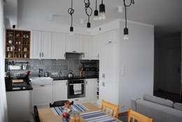 Mieszkanie, Białystok: styl , w kategorii Kuchnia zaprojektowany przez IN STUDIO PRACOWNIA PROJEKTOWA