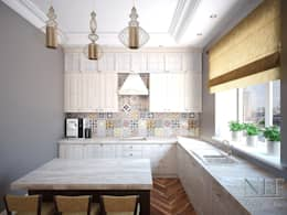 Квартира 126 кв.м. Современная классика. Transitional: Кухни в . Автор – Юлия Паршихина