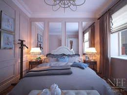 Квартира 126 кв.м. Современная классика. Transitional: Спальни в . Автор – Юлия Паршихина