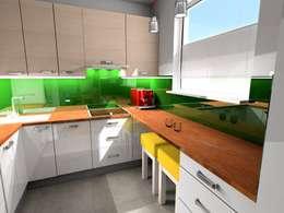 Kuchnia: styl , w kategorii Kuchnia zaprojektowany przez Plan Design Katarzyna Szczucka Projektowanie Wnętrz