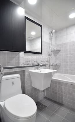 수원 정자동 한라비발디 27평: JMdesign 의  화장실