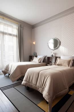 Projekty,  Sypialnia zaprojektowane przez Concrete LCDA