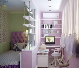 Дизайн детской в квартире по ул. Димитрова: Tерраса в . Автор – Студия интерьерного дизайна happy.design