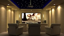 RESIDENTIAL INTERIORS AT TRICHY. (www.depanache.in): modern Media room by De Panache  - Interior Architects
