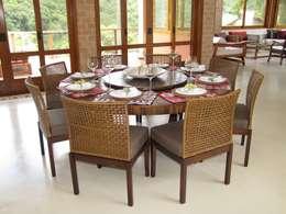 Comedores de estilo rústico por Studio LK Arquitetura e Interiores