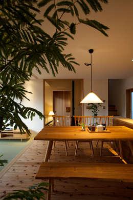 Projekty,  Salon zaprojektowane przez 辻健二郎建築設計事務所