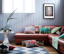 Collection Zig Zag: Salon de style de style Industriel par Tissage Art de Lys