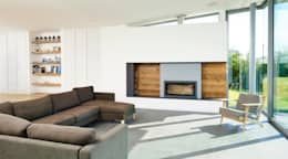 Sandhills Living Room and Fireplace: modern Living room by Barc Architects