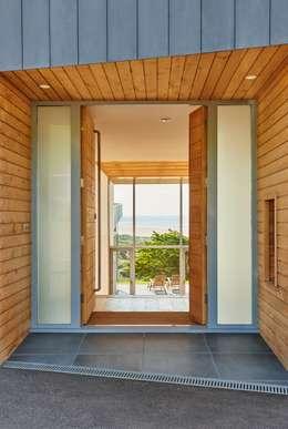 Sandhills Entrance: modern Corridor, hallway & stairs by Barc Architects