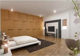 PRATIKSHA: modern Bedroom by PADARRPAN ARCHITECTS