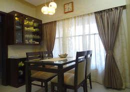 Mr. Pramod Joshi: modern Dining room by UNIQUE DESIGNERS & ARCHITECTS