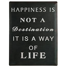 Pancarte d'antan - Happiness is not a destination…: Murs & Sols de style de style Rustique par IdéeCadeau.fr