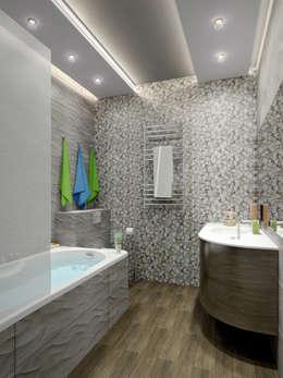 дизайн интерьра квартиры 120 кв.м.: Ванные комнаты в . Автор – INTERIERIUM