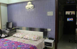 Mr.Pramod Chaudhary at Cosmos Horrizon: modern Bedroom by UNIQUE DESIGNERS & ARCHITECTS