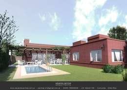 Casa Barrio Donovan II: Jardines de estilo clásico por Eduardo Caminal Arquitectura