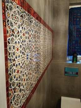 Płytki ceramiczne Mattullah: styl , w kategorii Łazienka zaprojektowany przez Kolory Maroka