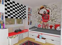 MOBİLYADA MODA  – Basketbol Temalı Çocuk Odası: modern tarz Çocuk Odası
