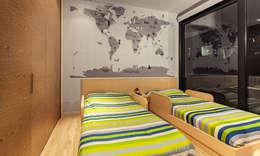 Habitacion infantil cama doble : Habitaciones infantiles de estilo  por Cristina Cortés Diseño y Decoración