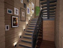 Дом из бруса в г. Бердск: Коридор и прихожая в . Автор – Студия дизайна Виктории Силаевой
