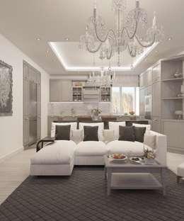 Salas de estilo clásico por Студия дизайна Виктории Силаевой