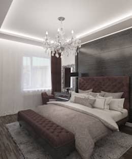 غرفة نوم تنفيذ Студия дизайна Виктории Силаевой