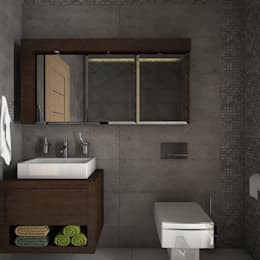 minimalistic Bathroom by Estudio BAM
