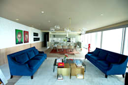 eclectic Living room by MAAD arquitectura y diseño