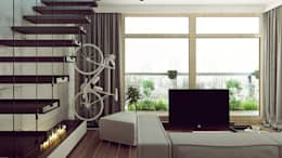 KOLEJOWA: styl , w kategorii Salon zaprojektowany przez KAEL Architekci