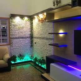 Salas / recibidores de estilo moderno por Disha Interior