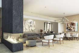 Casa Meseta : Salas de estilo moderno por Grow Arquitectos