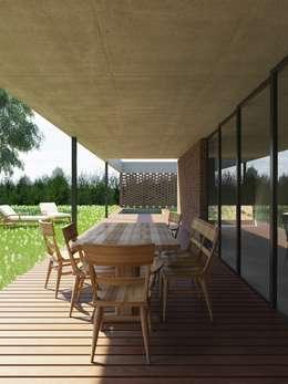 Projekty, nowoczesne Domy zaprojektowane przez D+D Studio